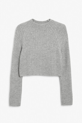 Monki Crop knit sweater