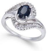 Macy's Sapphire (1 ct. t.w.) & Diamond (3/8 ct. t.w.) Ring in 14k White Gold