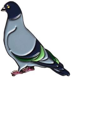 Make Heads Turn Enamel Pin Pigeon