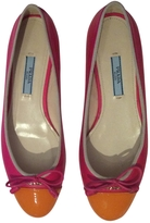 Prada Pink Leather Ballet flats