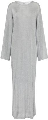 Totême Metallic knit maxi dress