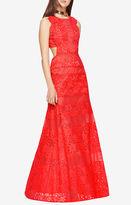 BCBGMAXAZRIA Merida Floral Lace Gown