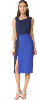 Diane von Furstenberg Sleeveless Asymmetrical Midi Dress