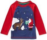 Class Club Adventure Wear by Little Boys 2T-6 Christmas Santa Tee