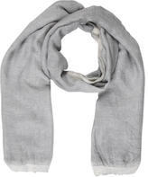 Faliero Sarti Grey Raw-Edge Scarf w/ Tags