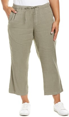 NYDJ Women's Plus Size Jamie Wide Leg Ankle Pants in Stretch Linen