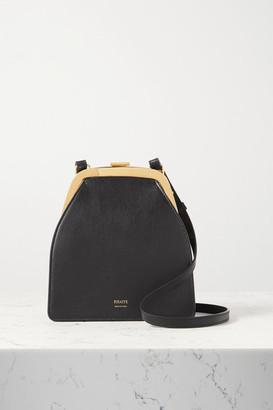 KHAITE Round Frame Leather Shoulder Bag - Black