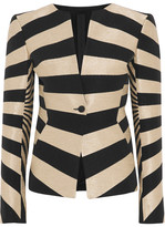 Gareth Pugh Striped Hopsack Jacket - Black