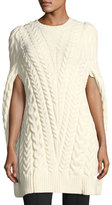 Derek Lam Cable-Knit Poncho Sweater