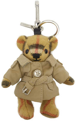 Burberry Beige Vintage Check Thomas Trench Keychain