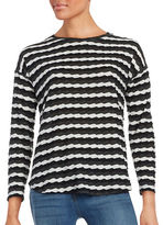 Two By Vince Camuto Long Sleeve Crew Neck Drop Shoulder Tee