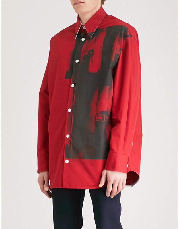 Calvin Klein Andy Warhol-print cotton shirt