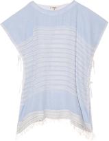 Lemlem Alma open-weave stripe top