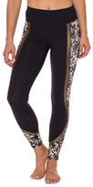 Betsey Johnson Floral Printed Colorblock Leggings