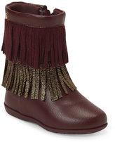 Pampili Toddler Girls) Burgundy Jujuba Fringed Boots