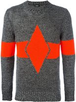 Diesel stripe intarsia sweater