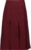 Proenza Schouler Pleated boiled wool wrap midi skirt