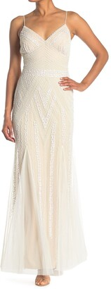 Marina Embellished V-Neck Gown