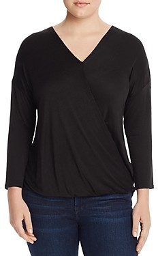 Status by Chenault Plus Faux-Wrap Top