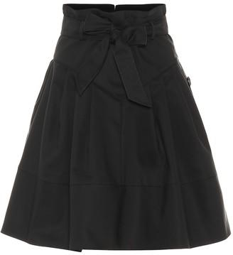 Miu Miu Cotton-blend tie-waist skirt