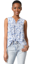 Rebecca Taylor Sleeveless Aimee Floral Top