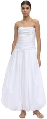 KHAITE Ingrid Cotton Twill Long Dress