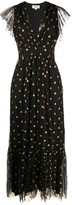 Temperley London sequin motifs flared dress