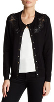 Chelsea & Theodore Long Sleeve Lace Detail Cardigan (Petite)