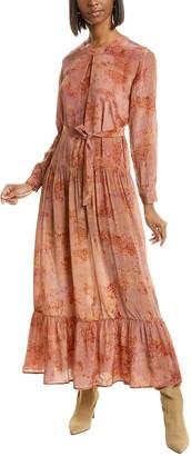Mes Demoiselles September Silk Midi Dress