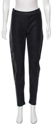 Gareth Pugh Leather Mid-Rise Pants