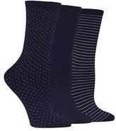 Hot Sox Polka Dot Crew Socks 3-Pack
