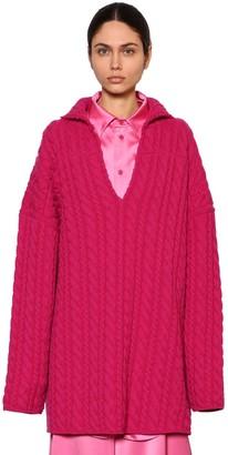 Balenciaga Oversized Weave Knit Swing Sweater
