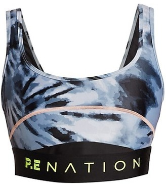 P.E Nation Top Spin Print Sports Bra