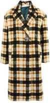 Topshop Heavy checked midi coat