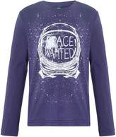 Benetton Boys Space Graphic Long Sleeve T-Shirt