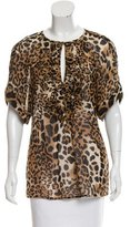 Nanette Lepore Printed Silk Top