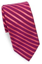 Ike Behar Narrow Stripe Silk Tie