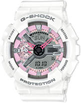 G-Shock Women's Analog-Digital S Series White Bracelet Watch 49x46mm GMAS110MP-7A