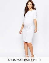 Asos PETITE Bardot Dress With Half Sleeve