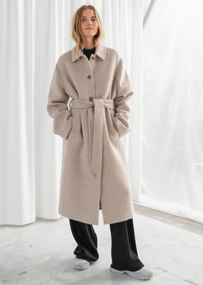 And other stories Wool Blend Oversized Long Coat