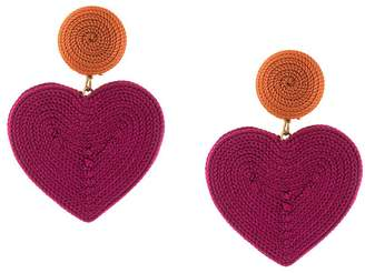 Rebecca De Ravenel heart drop earrings