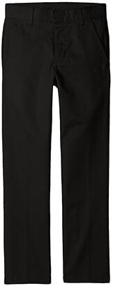 Nautica Slim Fit Flat Front Pants (Little Kids/Big Kids) (Black) Boy's Casual Pants