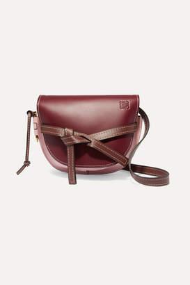 Loewe Gate Small Color-block Leather Shoulder Bag - Burgundy