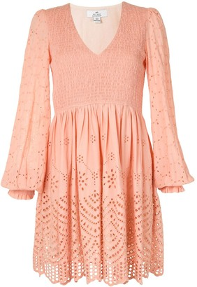 We Are Kindred Broderie Anglaise Shirred Dress