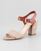 Chloé Two-Tone Open-Toe Sandal, Gray