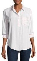Rails Elle Patch-Pocket Shirt, Peony White