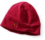 Lands' End Women's 100 Fleece Hat-Rich Red Fairisle