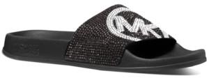 Michael Kors Michael Gilmore Signature Logo Slide Sandals Women's Shoes