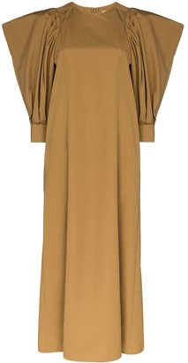 Givenchy Puff-Sleeve Midi Dress