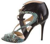 Monique Lhuillier Python Multistrap Sandals